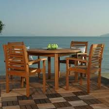 Milano Patio Furniture by Amazonia Milano 4 Person Eucalyptus Patio Dining Set With Stacking