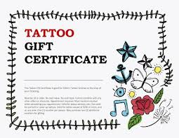 tattoo gift certificate template best tattoo 2018