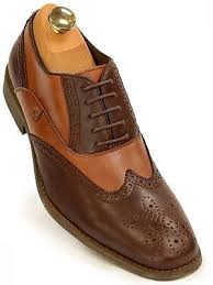 steve madden mens brown tan leather two tone wing tip oxford