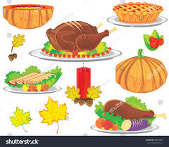traditional symbols thanksgiving day vector illustration stock