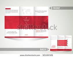 sided tri fold brochure template creative business trifold brochure template flyer stock vector