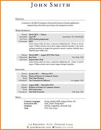 time resume templates time resume resume templates