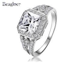 aliexpress buy beagloer new arrival ring gold online alışveriş beagloer 2016 new arrival square ring silver