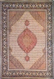 Fish Area Rugs Tabriz Mahi Wool Persian Rug Item 2045