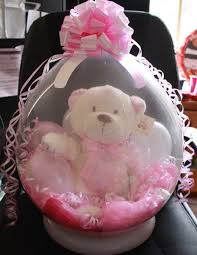 teddy bears inside balloons stuffed balloon with russ berrie girl party supplies for