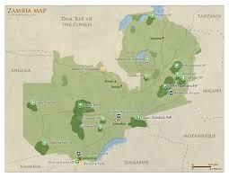 map of zambia zambia map detailed map of zambia national parks