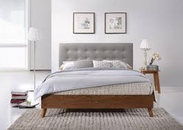 Modern Wooden Bed Frames Wood Bed Frame And Headboard Regarding Attractive Soft Modern