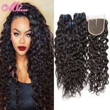 photos of wet and wavy hair brazilian water wave virgin hair with closure wet and wavy hair 3
