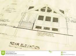 free house blueprints and plans house home blueprints plans stock image image 8053857