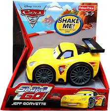 jeff corvette fisher price disney cars cars 2 shake n go jeff gorvette shake n