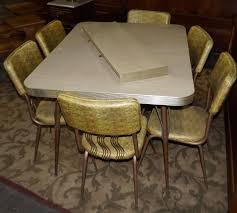 Formica Table Tops by Vintage Formica Table U0026 4 Chairs Around 1960 U0027s Gold Tone Vinyl