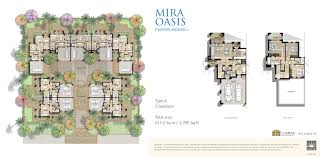 cluster house plans reem mira oasis ii floor plans