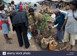 southwest sale roadside market with yams coco yams cassava and plantain on sale