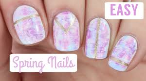 spring pastel nail art youtube