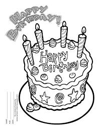 birthday coloring sheets happy birthday coloring sheets