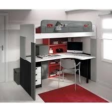 lit mezzanine avec bureau et rangement lit mezzanine pong avec bureau et bibliothèque achat vente
