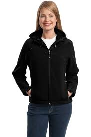 port authority women u0027s textured hooded soft shell jacket at amazon
