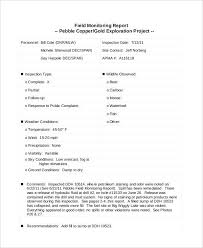 Field Inspection Report Template by 39 Inspection Report Exles
