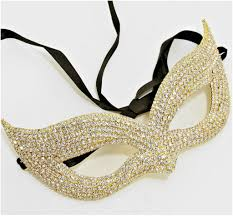 gold masquerade mask ivanna cluster cat eye statement gold masquerade mask