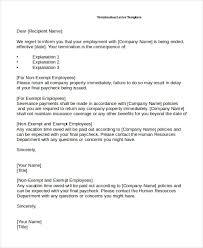employee termination letter 10 free u0026 premium templates