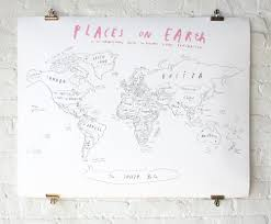 World Map With Pins by World Map With Pins Oliver Jeffers Store