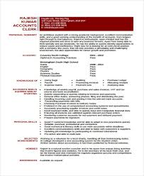 10 accounting curriculum vitae samples free u0026 premium templates
