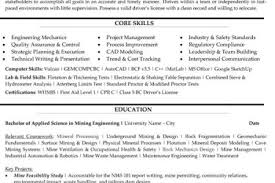 Resume Mining Resume Examples Templates Resume Example And Free Resume Maker