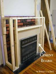 how to install natural stone veneer fireplace applying over brick