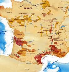 A Map Of France by French Wine Regions Part 1 Alsace Ocated In The Scenic