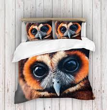 3d photo print owl duvet cover set new york city duvet cover adam