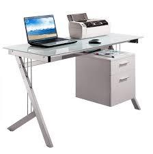 White Desk Glass Top Small White Corner Computer Desk 16 Fascinating White Computer