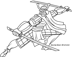 samurai 11 characters u2013 printable coloring pages