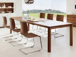 Big Wood Dining Table Dining Room Decoration Using Silver Metal Wooden Dining Chair