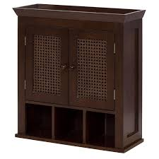 Cubby Wall Shelf by Amazon Com Elegant Home Fashions Wall Cabinet With Cane Paneled