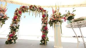 wedding arches decorated with flowers wedding decorations on the wedding interior ceremony