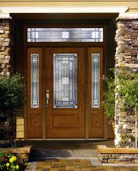 Solid Wooden Exterior Doors Wood Front Door With Glass