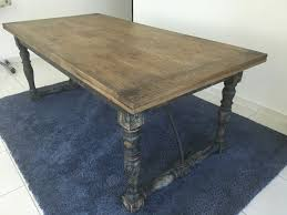 vintage solid wood table second hand dubai