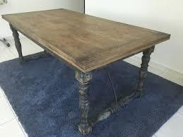 vintage solid wood table second hand dubai