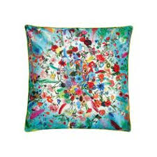 christian lacroix calypso turquoise throw pillow designers guild