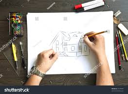 hand writing on blueprint house stock photo 79770787 shutterstock