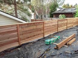 horizontal wood fence cedar home u0026 gardens geek