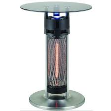Patio Heater With Light Energ 1400w Electric Infrared Bistro Table Patio Heater With Led