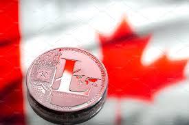 Dimensions Of Canadian Flag Coins Bitcoin Against The Background Of Canada Flag Concept Of