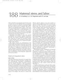 maternal stress and labor pdf download available
