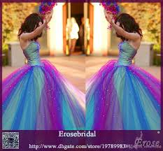 multi color wedding dress multicolor wedding dresses sweetheart rainbow wedding gowns