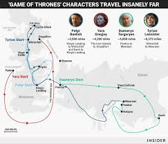 Got Map Game Of Thrones U0027 Map Reveals The Distance Characters Traveled
