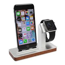 Nightstand With Charging Station by W2 Dual Iphone And Apple Watch Dock With Nightstand Mode