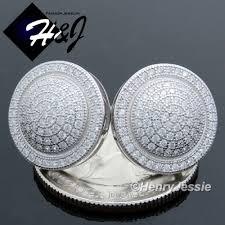 back earrings for men men 925 sterling silver 15mm lab diamond bling back