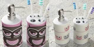 fun owl bathroom accessories easy bathroom decor easy bathroom