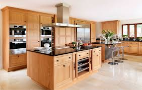 contemporary kitchen solid wood wooden island oak